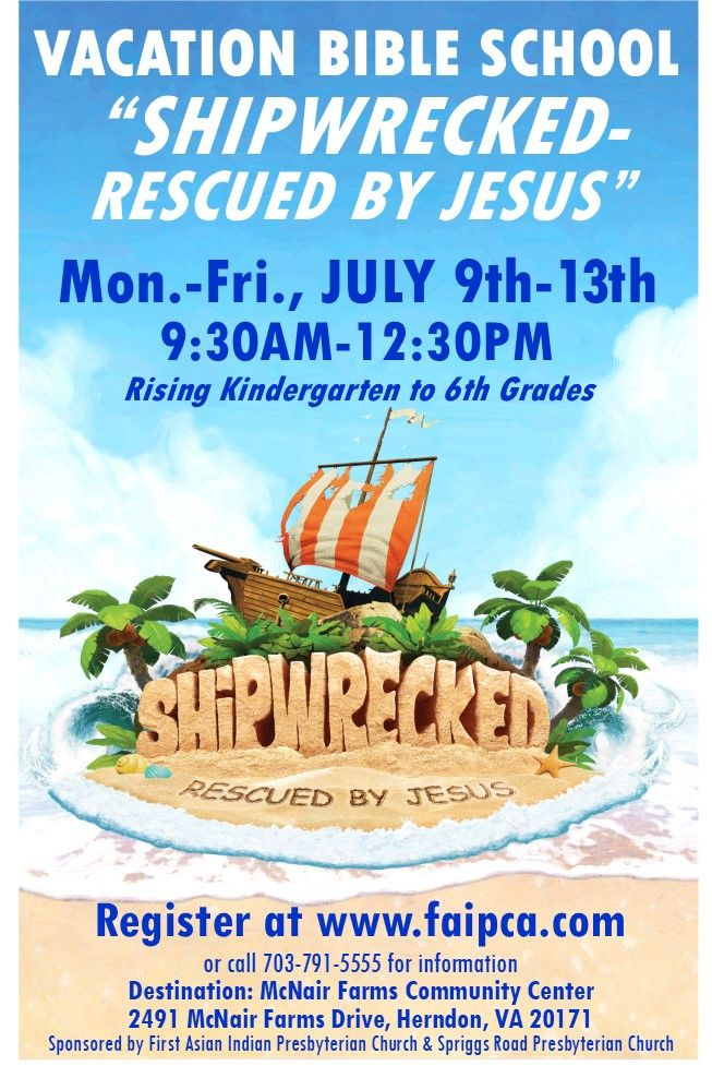 Shipwrecked-Rescued by Jesus: Vacation Bible School